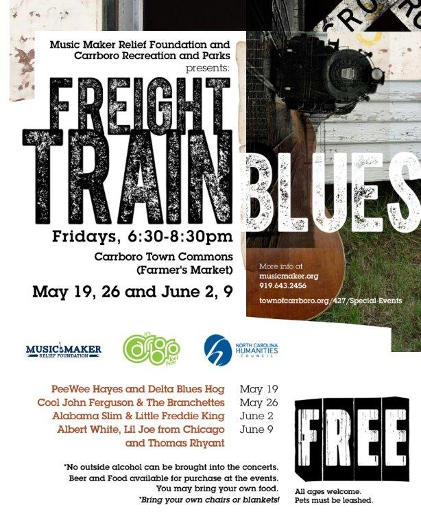 2017 Freight Train Blues Concert Series