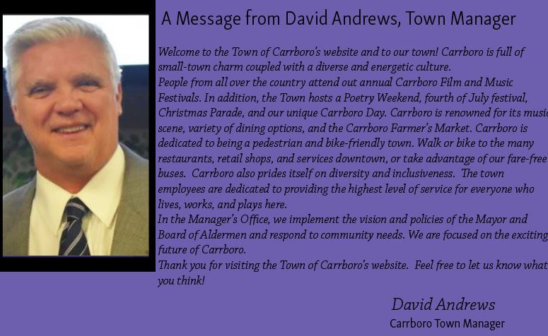 Town Manager Message